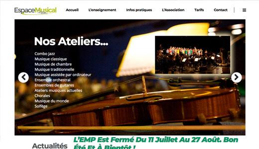 Osirys agence communication - Vignette site web espace musical