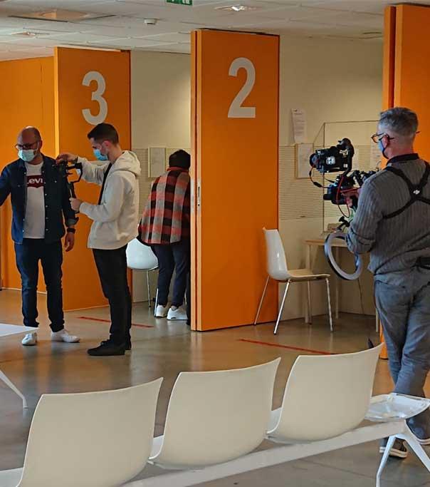 Photos tournage clinique Arcachon - tournage réalisation vidéo - OSYRIS - agence de communication bordeaux