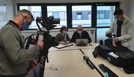 Photos tournage clinique Arcachon - Lucas GORRY - Christian Collin- tournage réalisation vidéo - OSYRIS - agence de communication bordeau